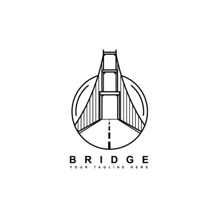 Simple bridge vector design isolated from white background Иллюстрация