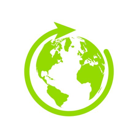 design symbol of recycling natural environment