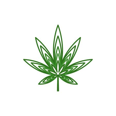 Cannabis leaf logo design vector isolated white background