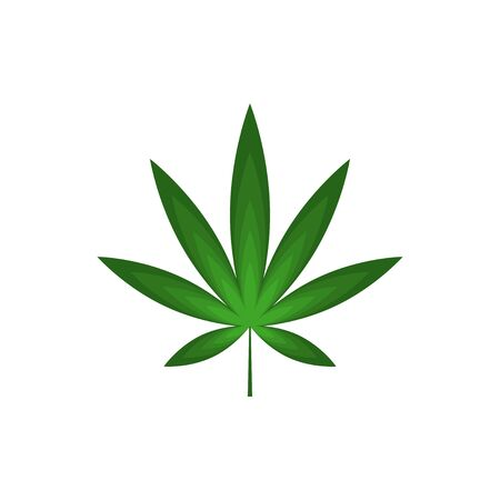 Cannabis leaf gradient vector design isolated white background Illustration
