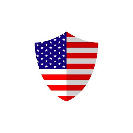 flag shield symbol of American independence day