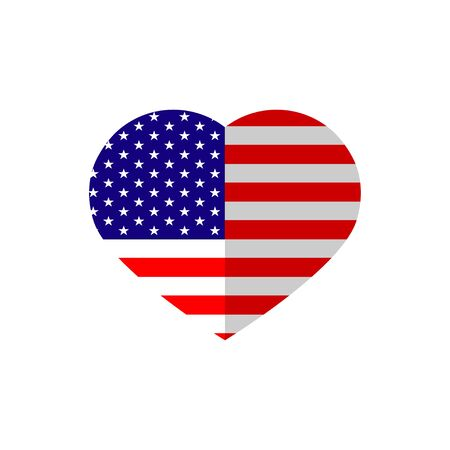 heart symbol of American independence day