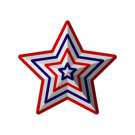 star symbol of American independence day Illustration