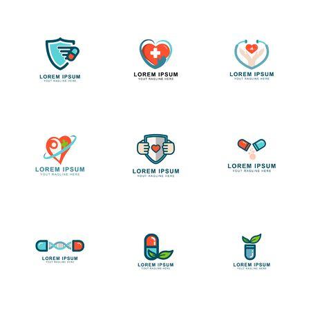 design concept health care logo set