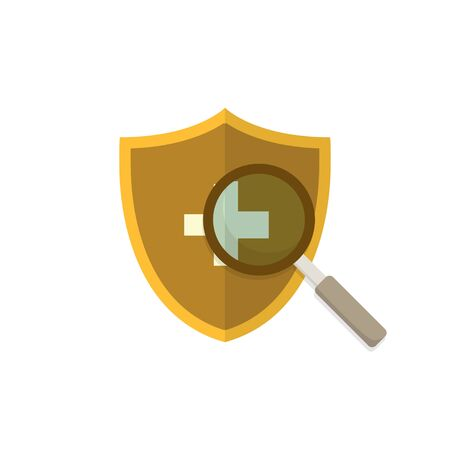 health protection shield, a modern flat style design concept