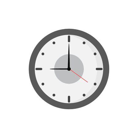 flat style clock icon isolated white background Illustration
