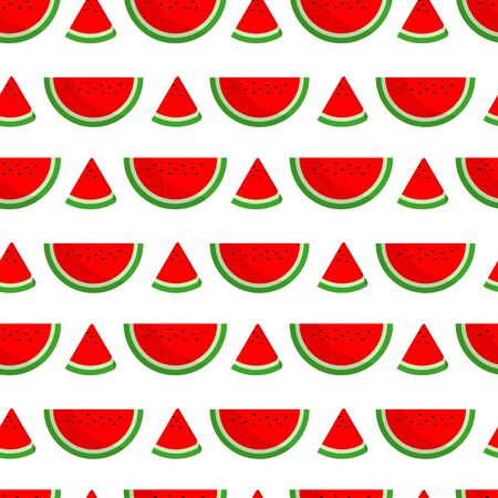seamless pattern of watermelon slices for printing needs and book covers Stock Illustratie