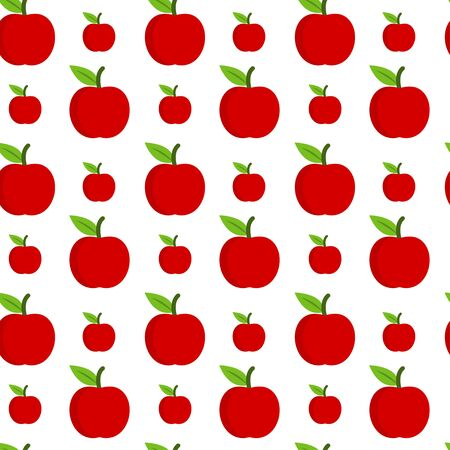 seamless pattern with fresh red apples Banque d'images - 129858639