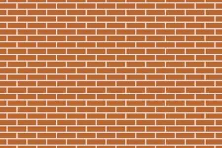 vector illustration of a brown brick wall pattern background Illustration