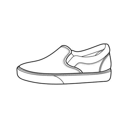 sneakers outline icon design vector isolated white background