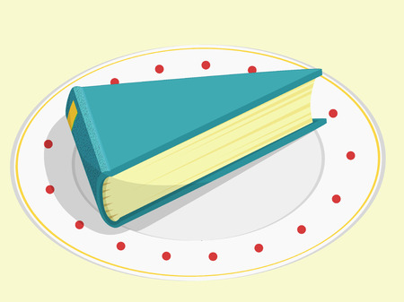 repast: a piece of book as a food for thought Illustration