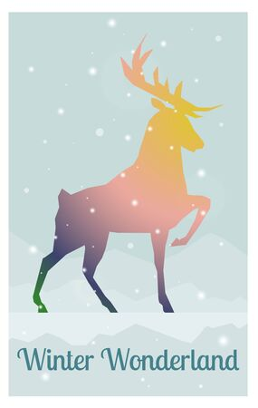 buck: creative gradient shape buck stylish postcard vector