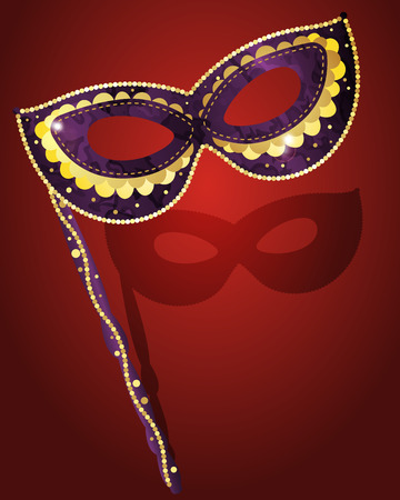 fallacy: Carnival mask for masquerade costume, colored vector illustration Illustration