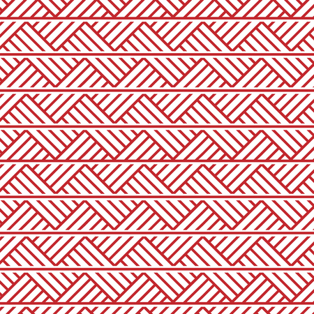 slavic ornament seamless vector pattern, red monochrome on transparent background, traditional ethnic ornament
