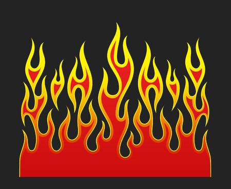 Element wektora ognia płomieni