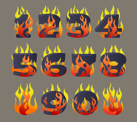 Flaming numbers set