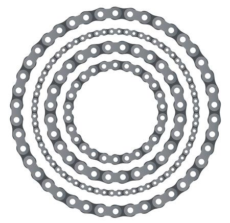 Motorradkette runden Rahmen Vektor-Set Standard-Bild - 86815228