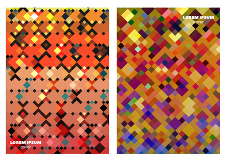 entertaiment: Geometric square patterns design template for brochure covers, posters, notepads, banners etc.