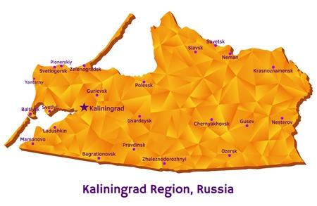 Vector map of Kaliningrad Region, Russia Illustration