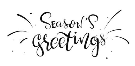 Hand-written lettering phrase Seasons Greetings