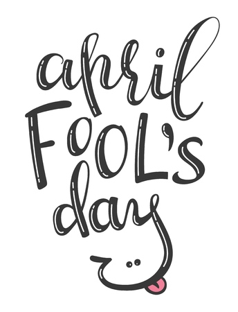 Vector hand written lettering phrase April Fools Day