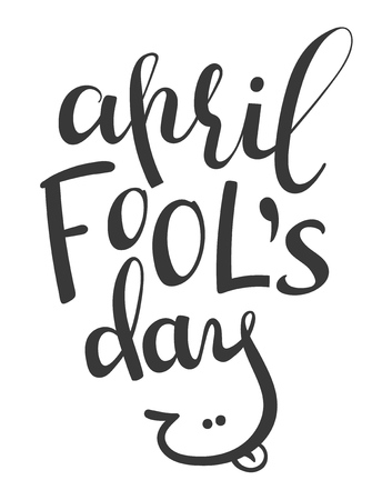 Vector lettering phrase April Fools Day