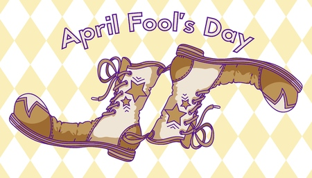 April Fools Day - hand drawn vector illustration. Design for greeting cards, posters, prints etc.