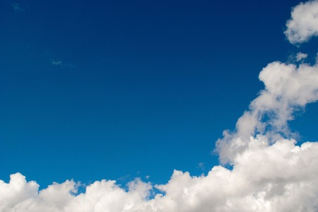 blue sky with clouds, cloudy skyscape background photo Stock Photo
