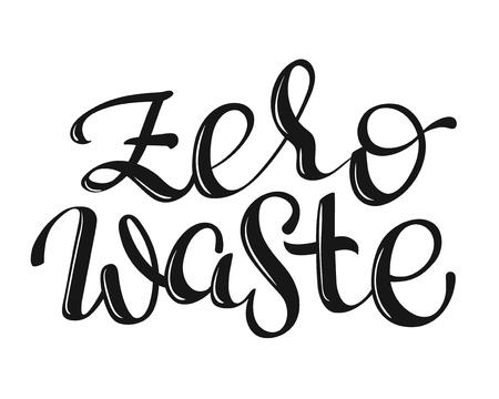 vector lettering words - Zero Waste - Stock Photo