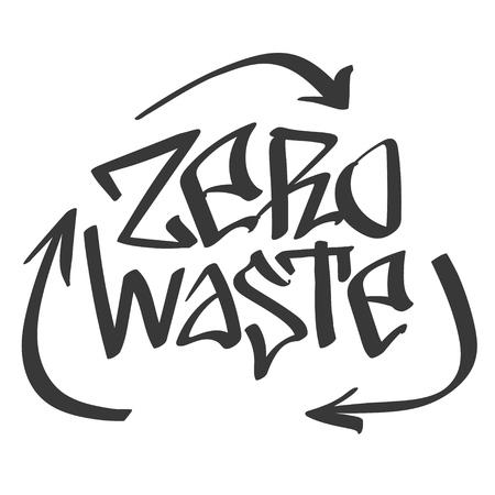 vector graffiti style lettering words - Zero Waste -