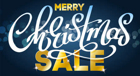 Merry Christmas Sale - vector illustration for holiday advertising