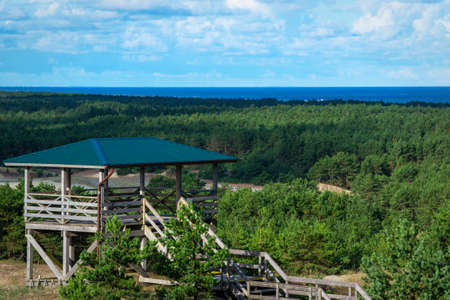 observation deck on the dunes on the Curonian Spit