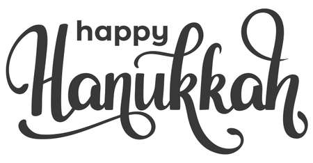 Handwritten lettering Happy Hanukkah