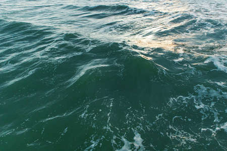 Deep blue-green sea water surface, background photo texture Banque d'images - 162420866