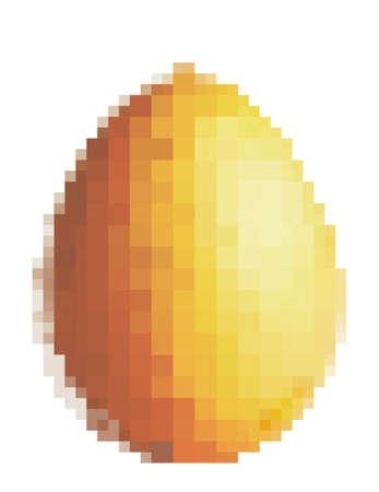 Pixel art egg icon, stylized vector illustration