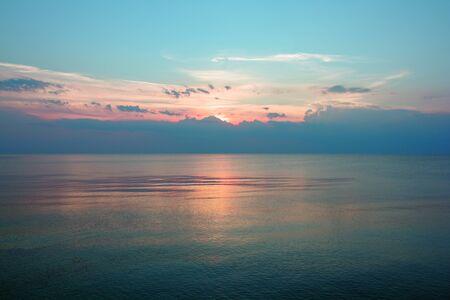 Sunset on the Baltic Stockfoto