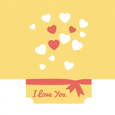 Card with a can and hearts for a declaration of love Stock Vector - 17820100