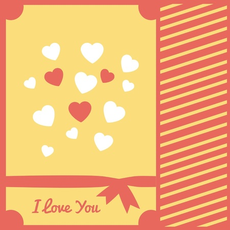Card with a can and hearts for a declaration of love Vector