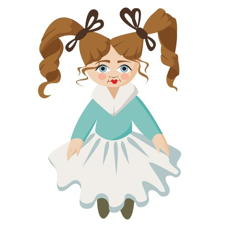 ringlet: Little lovely girl with the doll person