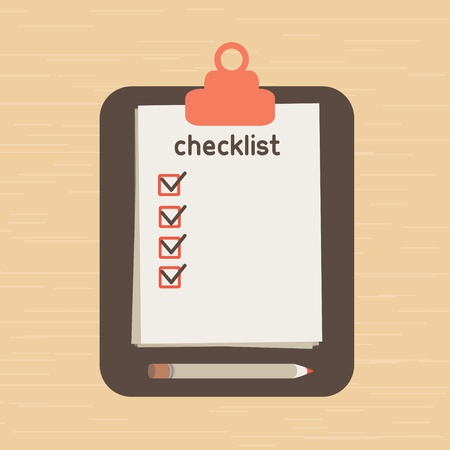 execute: the list put which it is necessary to execute. list of purchases. Illustration