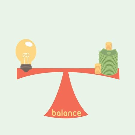 us coin: equilibrio entre la idea y el dinero. idea es el concepto de dinero. Vectores