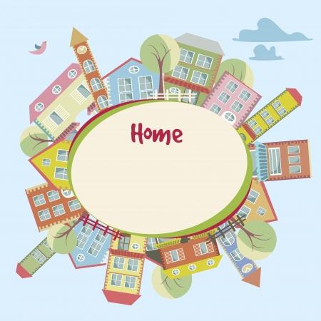 animated film: Home background Illustration