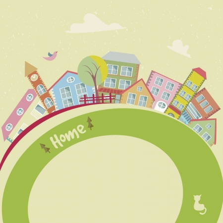 animated film: Home background