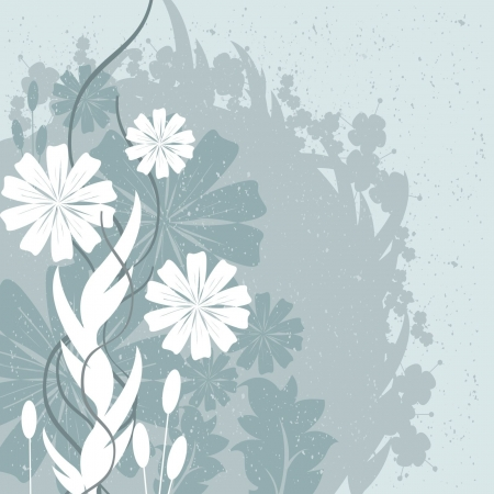 saturated color: Flowers and Leaves Design Illustration