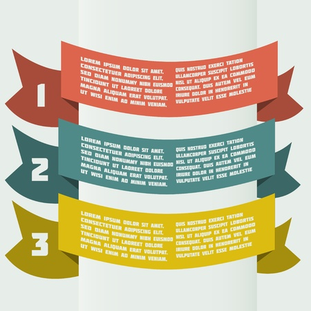 simple color infographics with bent banners Vector