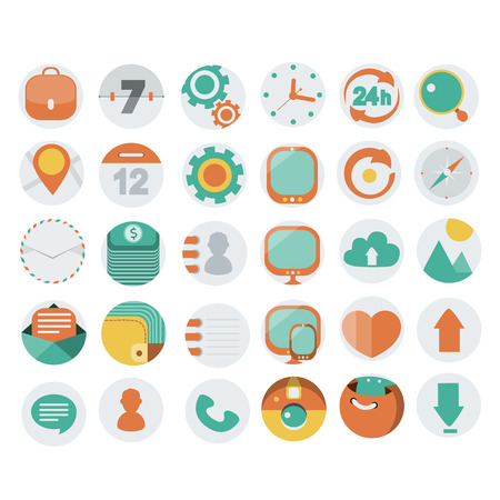Application Web Icons in Flat Design, vector illustration