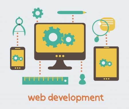 web development: web development Illustration