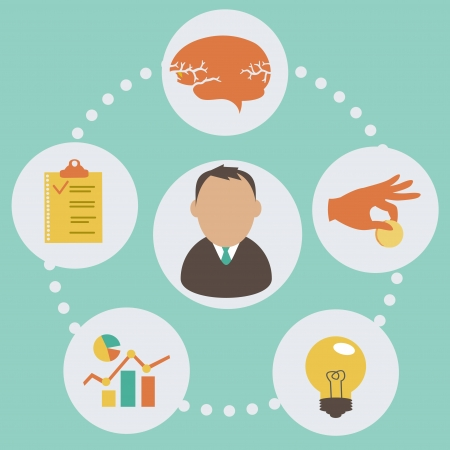 profitability: business start up concept   Vector  illustrations  in flat style  eps 10