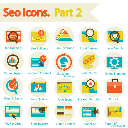 SEO Icon set part 2 Vector