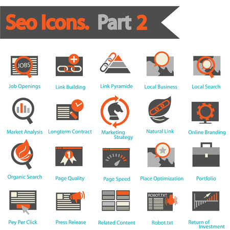 SEO Icon set part 2 Illustration